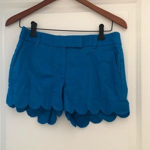 JCrew scalloped shorts, size 2.